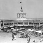 El desaparecido pabellón sobre el mar del Balneario de Las Arenas