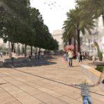 Así será la futura remodelación peatonal de la plaza de la Reina