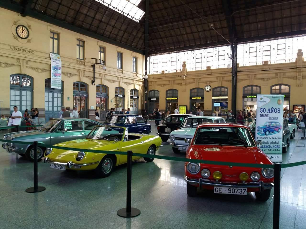 La Estación del Norte de Valencia acoge una exhibición del Seat 850