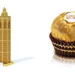 Ferrero Rocher representa El Miguelete con bombones para felicitar las navidades en Valencia