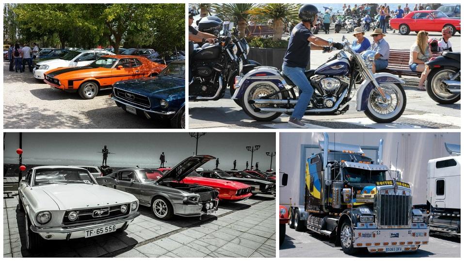 Concentración de coches americanos venidos de toda España este fin de semana en Alcossebre