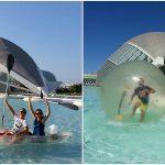 Disfruta este verano de las barcas, kayaks, water bikes y bolas en el lago sur del Hemisfèric