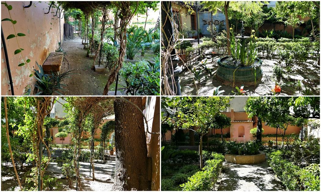 El jardín del Palau de Forcalló de Valencia