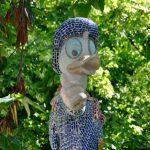 El Monumento del Pato Donald en homenaje a Walt Disney de los Jardines de Viveros