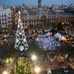 La plaza del Ayuntamiento de Valencia será peatonal durante 9 días esta Navidad