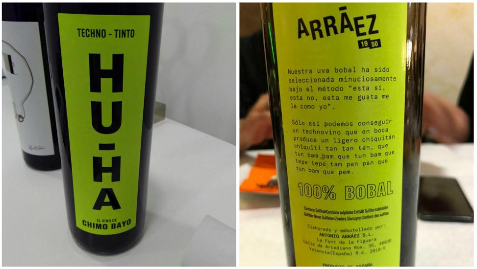 """""""Hu-Ha"""" techno-tinto, el vino de Chimo Bayo, sale a la venta"""