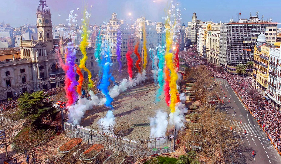 Calendario mascletaes y castillos de fuegos artificiales de Valencia Fallas 2018