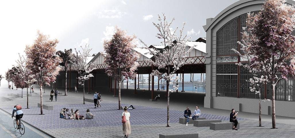Así será el nuevo entorno del Tinglado 2 de La Marina de Valencia