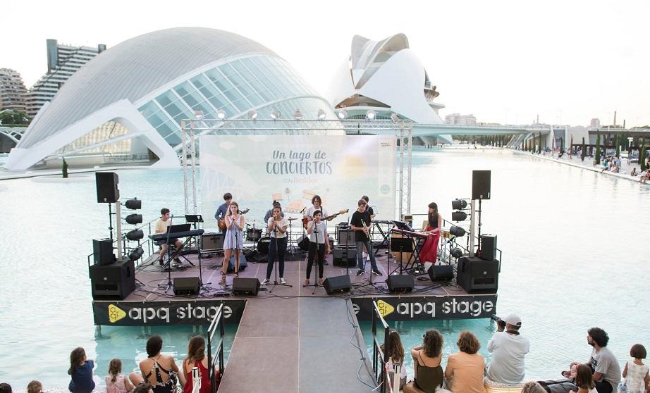 Regresan los conciertos gratuitos a la Ciudad de las Ciencias con 'Un lago de conciertos'