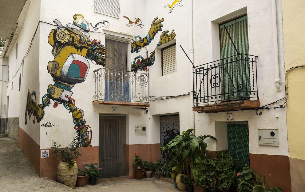 Fanzara, la población castellonense que se ha convertido en referencia mundial del arte urbano
