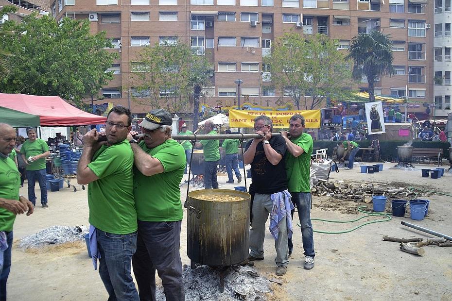 XVIII Fira del Porrat de Alaquàs con recreación de la cultura valenciana