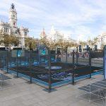 La plaza del Ayuntamiento de Valencia se convertirá el sábado en una gran fiesta del baloncesto