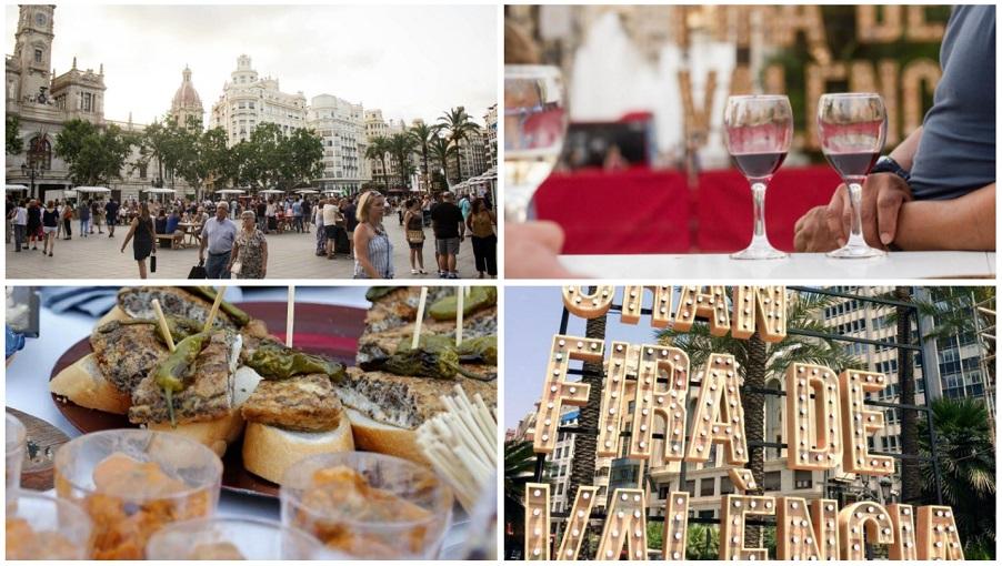 La plaza del Ayuntamiento de Valencia se llena de productos gastronómicos valencianos esta semana