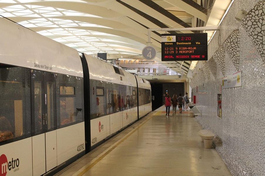 Metrovalencia dará servicio 24 horas del 15 al 20 de marzo por las Fallas