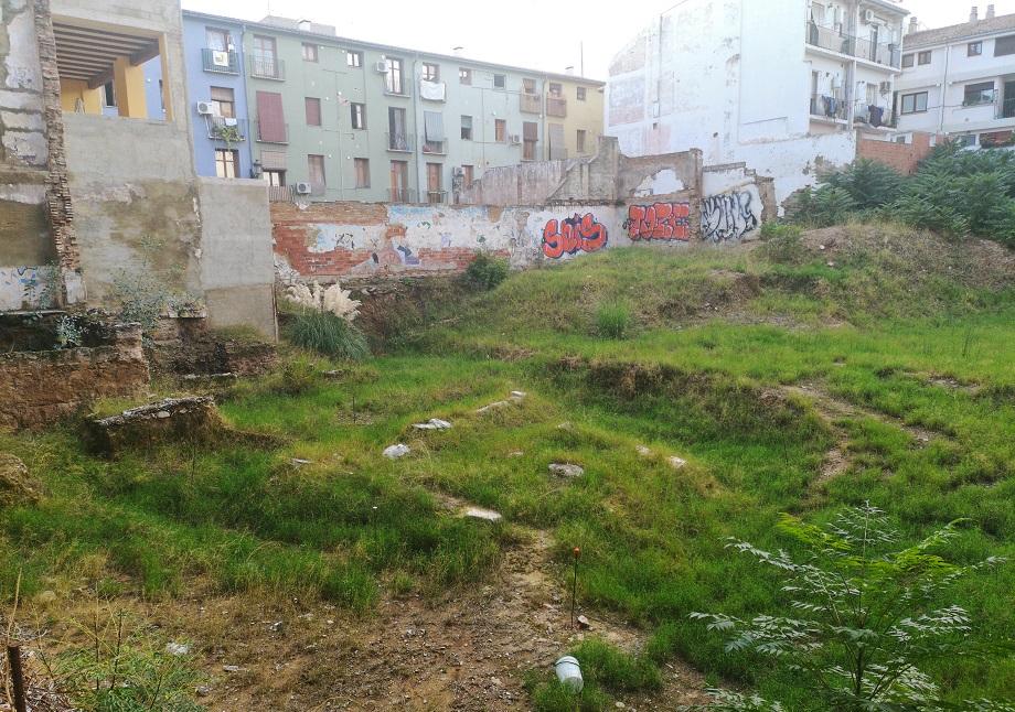 El grave abandono de los restos del molino islámico de la calle Salvador Giner de Valencia