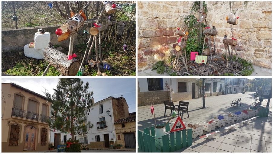 Aras de los Olmos decora sus calles con adornos navideños muy especiales