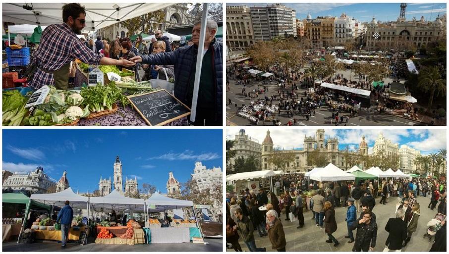 "Regresa el mercado de proximidad ""De l'Horta a la Plaça"" a la plaza del Ayuntamiento de Valencia"