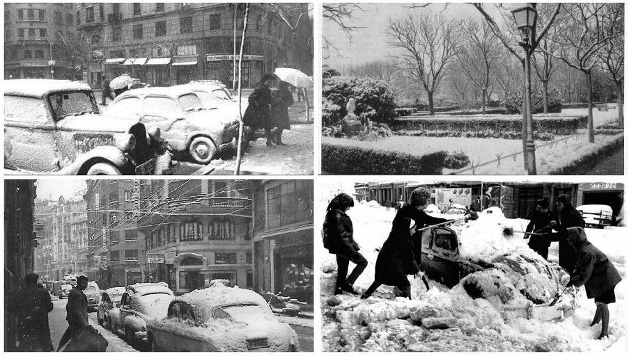 La gran nevada de 1960 en Valencia capital