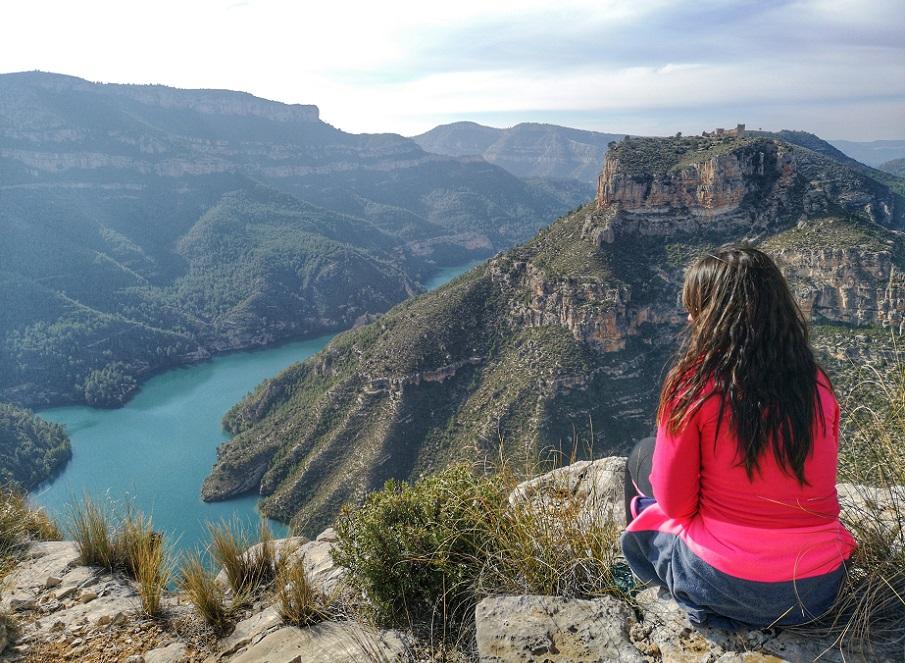 El Puntal de Crespo, un precioso mirador natural con vistas al castillo de Chirel