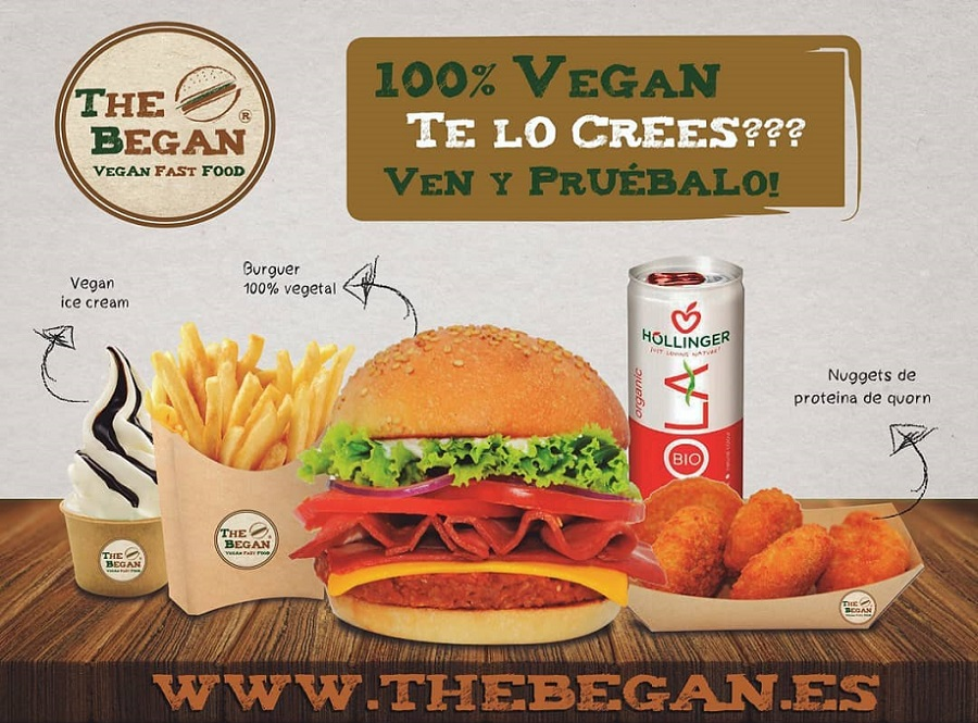 Llega a Valencia The Began, un fast food 100% vegano con servicio a domicilio