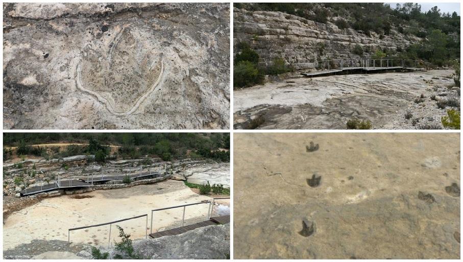 El Yacimiento icnológico del Tambuc, más de 400 huellas de dinosaurios en Millares