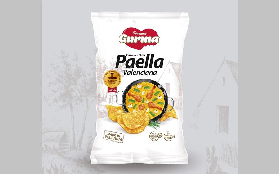 Una empresa valenciana lanza al mercado unas patatas fritas con sabor a Paella Valenciana