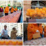 Miles de litros de zumo de naranja y horchata se repartirán de manera GRATUITA en las Fallas 2019
