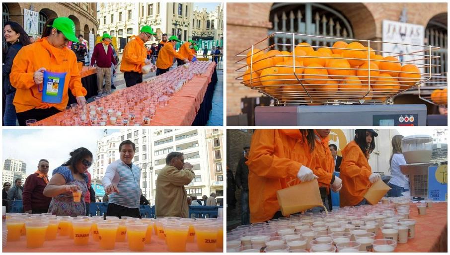Miles de litros de zumo de naranja y horchata se repartirán GRATIS esta semana