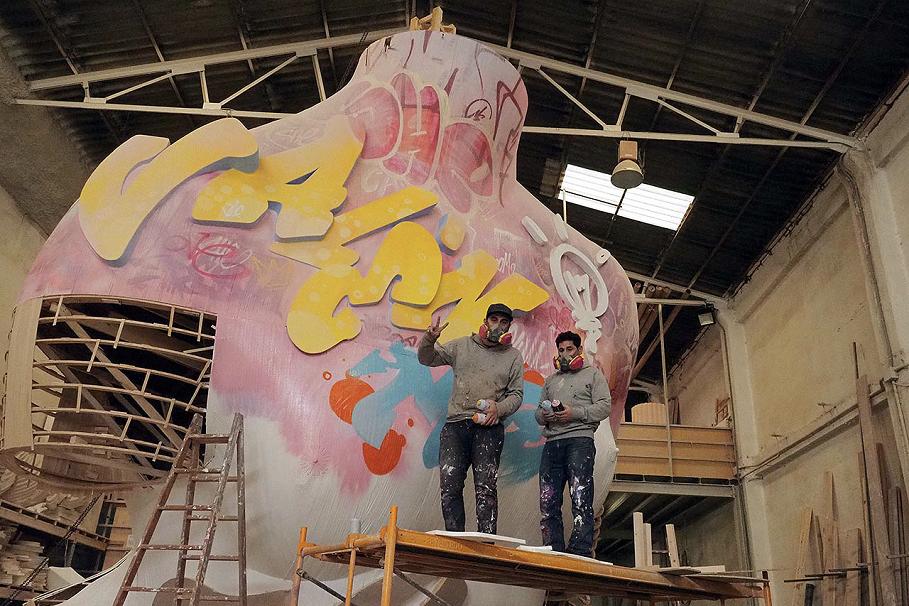 PichiAvo pintarán este sábado la falla municipal de Latorre y Sanz antes de la gran mascletà nocturna