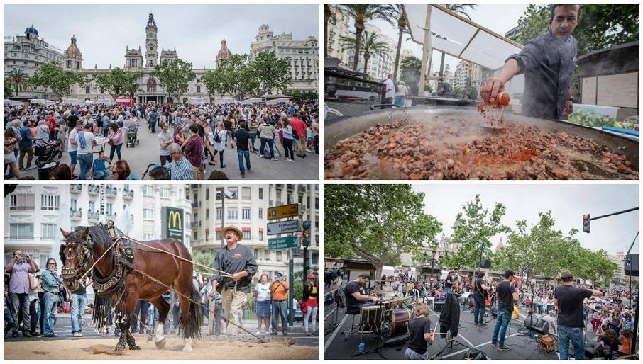 TastArròs, la gran fiesta del arroz, regresa a la plaza del Ayuntamiento de Valencia