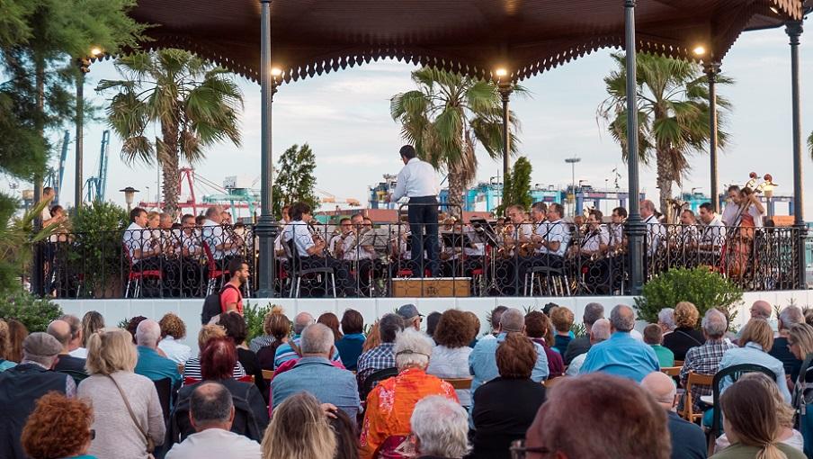 Vuelve el ciclo de conciertos GRATUITOS de las bandas de música a la Pérgola de La Marina
