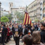 Recuperan una procesión histórica en Sant Jordi con la Real Senyera después de más de 300 años