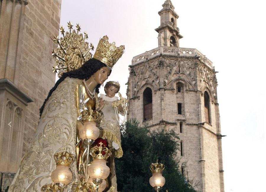 Imagen de archivo de la Fiesta de la Virgen de los Desamparados en Valencia en 2019