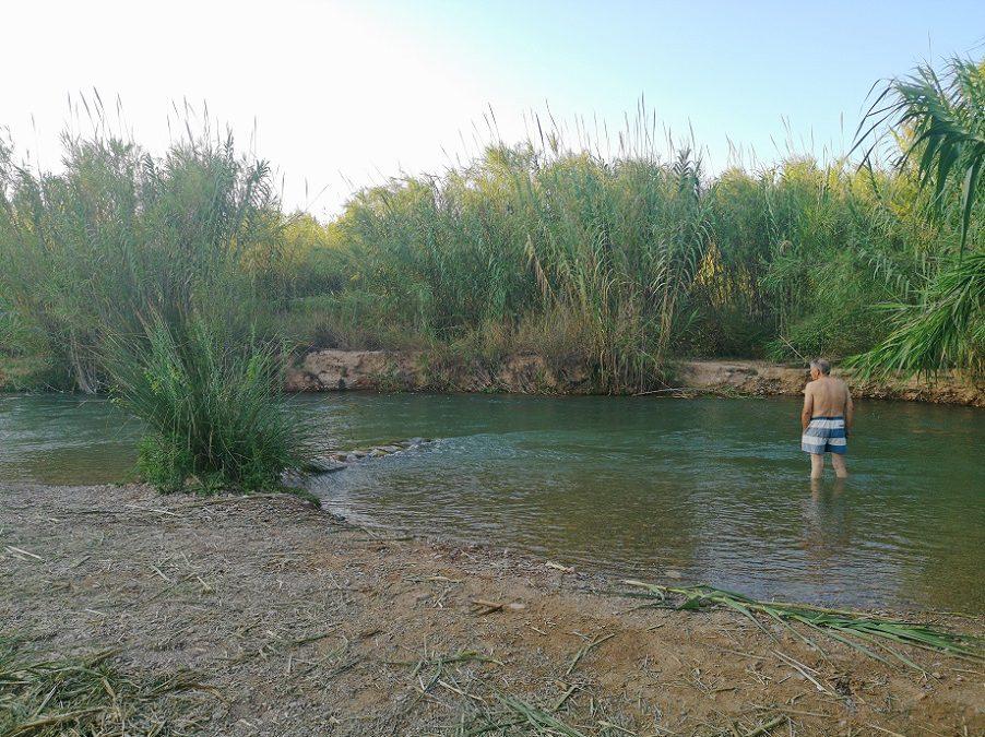 La zona de baño del Parque Fluvial del Túria que hay junto a la caseta de madera de Vilamarxant
