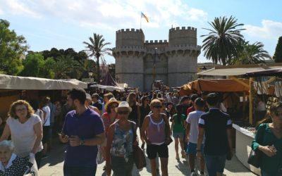 Vuelve el mercado medieval de las Torres de Serranos y los Moros y Cristianos del cap i casal