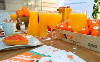 Zumo de naranjas valencianas GRATUITO al desayunar por la Semana del Desayuno Valenciano