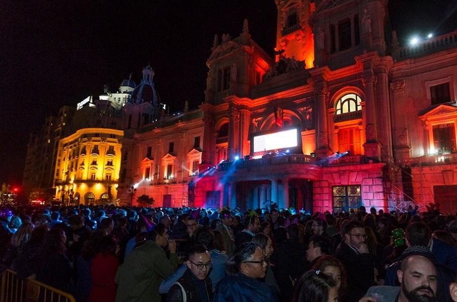 La plaza del Ayuntamiento de Valencia contará con una gran fiesta para celebrar la Nochevieja 2019