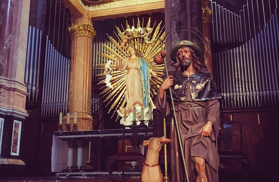 San Roque, uno de los protectores de epidemias con mayor devoción en la diócesis de Valencia