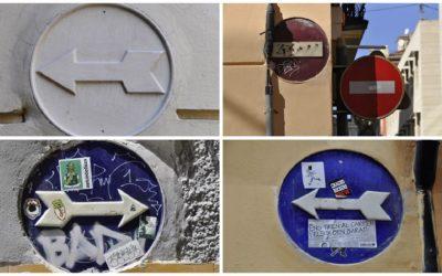 Las antiguas señales de circulación realizadas en cerámica de Ciutat Vella