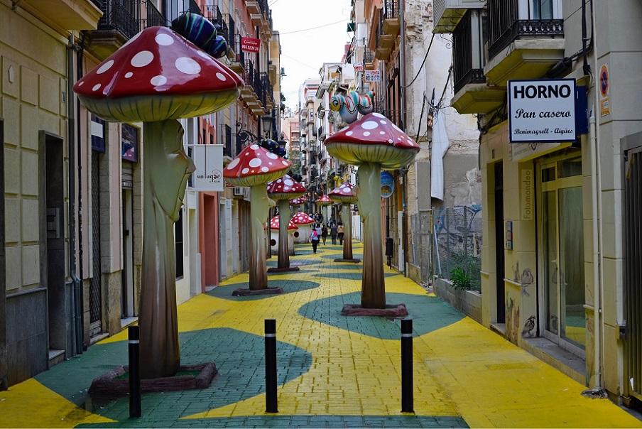 La calle de las Setas, una calle sacada de un cuento infantil