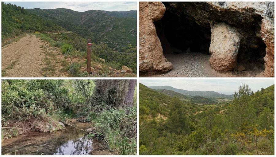 El Rincón de Cucala, el Barranco de la Cueva Morica y la Cueva de la Brihuela