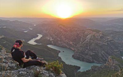 Atardecer desde uno de los puntos más bonitos de la Muela de Cortes, el Alto de Ayora