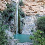El Chorro del Villar o Chorrador, la gran cascada del Castillo de Villamalefa