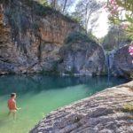 El Pozo Negro y la cascada del barranco de Santa Ana