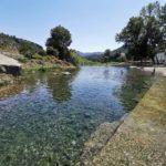 La piscina natural de Argelita, rincón del río Villahermosa al paso de la población
