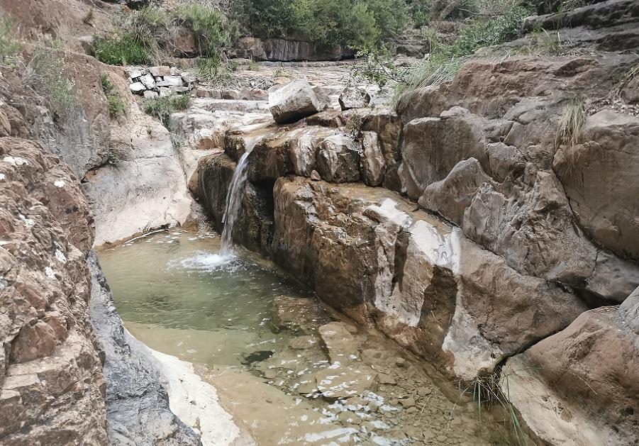 El Barranco Magro, un barranco lleno de pequeñas pozas y saltos de agua