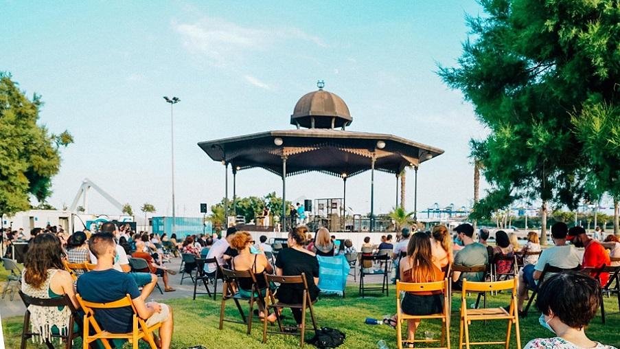 Imagen de un concierto en la Pérgola de la Marina  de Valencia