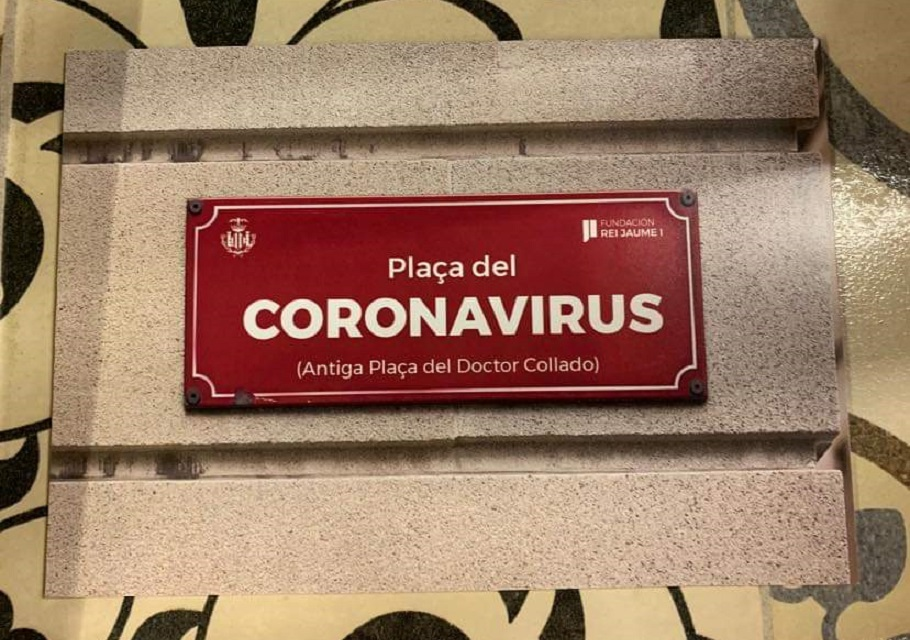 Valencia cambia el nombre de la plaza del Doctor Collado a plaza del Coronavirus