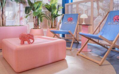 ¿Una cervecería rosa? Nace la primera terraza Bierwinkel Experience de España en Valencia
