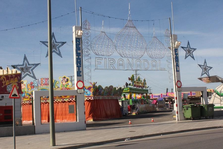 Alzira inaugura su Feria de atracciones de Navidad con todas las medidas anti-COVID